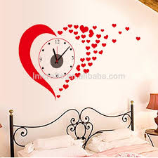 love decorations for the home manufatory supply love 3d clock wall stickers wedding decoration