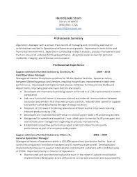 Sample Resume For Warehouse Manager by Security Supervisor Resume Sample Resume Example Project Manager
