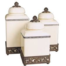 the gg collection cream acanthus leaf canisters set 3 can1 3cr
