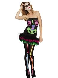 skeleton costume womens fever neon skeleton costume 25326 fancy dress