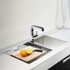 Kohler Geog  Bowl Stainless Steel Kitchen Sink TFNA - Brushed steel kitchen sinks