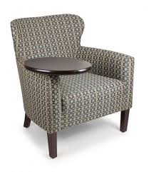 Upholstered Armchair Upholstered Armchair Flexsteel Tablet Chair With Rotating Arm