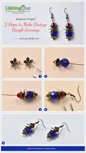 make dangle earrings beginners project 2 steps to make vintage dangle earrings from