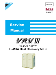 daikin vrv iii reyq p service manual leak hvac