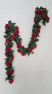 6ft burgundy rose garland silk flower wedding home office ebay