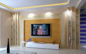 tv on living room wall home design