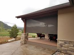 Sunscreen Patios And Pergolas by Exterior Shades Motorized Patio Sunscreens Durango Shade Co