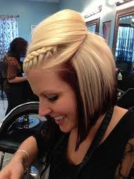 hair with poof on top 20 simple braids for short hair