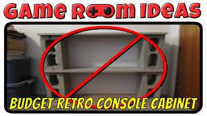 game room ideas budget multi retro console media cabinet youtube