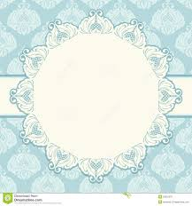 template of decorative card invitation or frame stock image