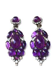 1960 s earrings sold k j l violet cocktail hour earrings circa 1960s sarara couture