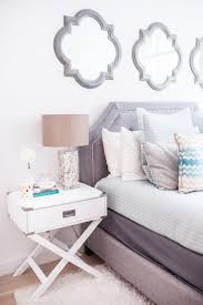 White Bedroom Wall Mirrors Enviable White Bedroom With Decorative Wall Mirrors And Tiny