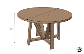 Free Wooden Dining Table Plans by Round Trestle Dining Table Free Diy Plans Rogue Engineer