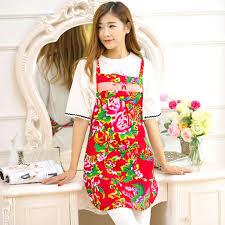 chef cuisine femme fleur de mode femmes en plastique cuisine tabliers de nettoyage de