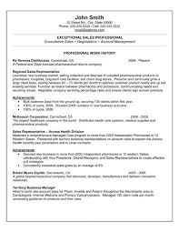 Resume Examples For Sales Representative by Free Resume Samples For Sales Job