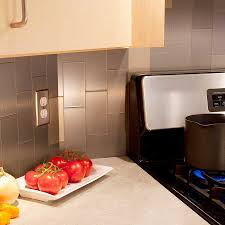 marvelous stainless steel subway tiles kitchen backsplash tile