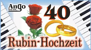 10 jã hriger hochzeitstag rubin hochzeit 40 jahre ehe jubiläum hochzeitslied