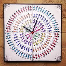 designer wall clocks online india colourful handmade hand painted warli wall clock buy colourful