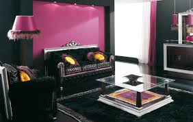 black and purple living room home design