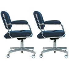 Office Rolling Chairs by Pair Of Chromcraft Rolling Swivel Armchairs At 1stdibs