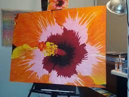 easy acrylic painting ideas flowers