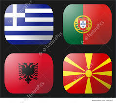Macedonian Flag Illustration Of Portugal Flag Greece Flag Albania Flag Macedonia Flag