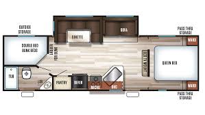 Travel Trailers With Bunk Beds Floor Plans Forest River Cherokee 274dbh Travel Trailer Sales