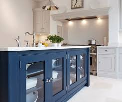 Blue Kitchen Island Blue Painted Kitchen Bespoke Kitchens Tom Howley House