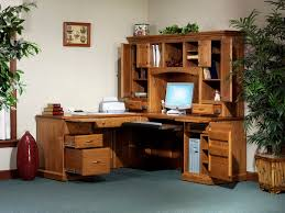amish l desk with hutch