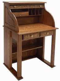 Small Oak Roll Top Desk 28 7 8 W Solid Oak Roll Top Vintage Scholar S Desk