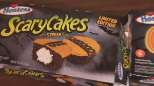 halloween treats from hostess glo balls and scary cakes with