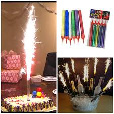 candle sparklers firework birthday cake cupcakes sparklers candles smokeless party