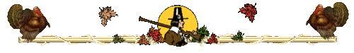 pilgrims and turkeys thanksgiving divider animated gif 9013