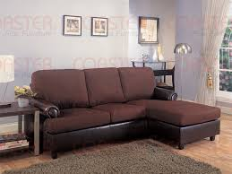 rupard brown microfiber vinyl sofa chaise reversible sectional by