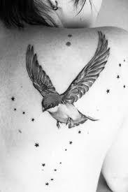 flying birds tattoo designs birds and stars tattoo tattoomagz
