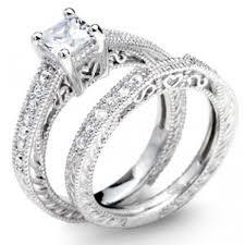 princess cut wedding set princess cut sterling silver wedding set