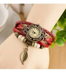 leather leaf bracelet images Leather leaf bracelet watch for her jpg