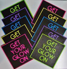 glow in dark invitations carol u0027s creations get your glow on invitations