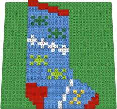Christmas Stocking Decorations Christmas Stocking Decorations Lego R Mosaic Design Brick Art