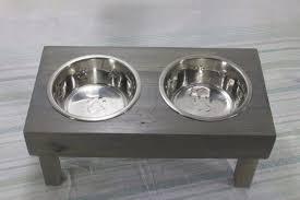 Dog Bowl Stand Raised Dog Bowl Feeder Rustic Dog Feeder