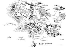 Map Middle Earth Tolkien U0027s Middle Earth Bespoke Hand Drawn Map