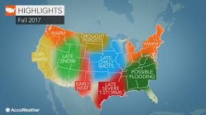 Weather Map Chicago by 2017 Us Fall Forecast Warmth To Linger In Northeast Conditions