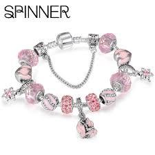 charm snake bracelet images Spinner mermaid charm bracelets women with glass beads fit snake jpg