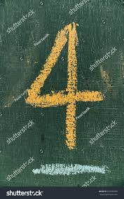 text number four on chalkboard inscription stock photo 643389499