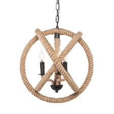 Orb Pendant Light Camulus 3 Light Rope Orb Pendant Lamp Natural Rope Aiden