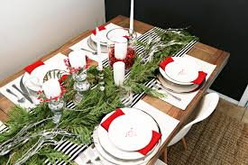 happy everything plates festive tablescape for a dinner party clutter