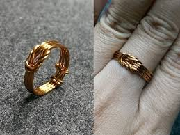 gold wire rings images Copper wire knot ring handcrafted copper jewelry 147 jpg
