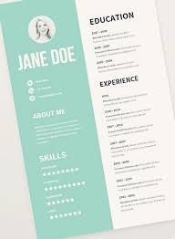 graphic designer resume free graphic design resume templates best 25 cv template ideas on