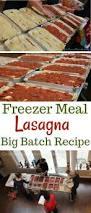 freezer meal lasagna with goat cheese mozzarella and fresh basil