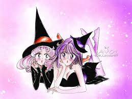 chibiusa and hotaru the witches halloween eve by zelldinchit